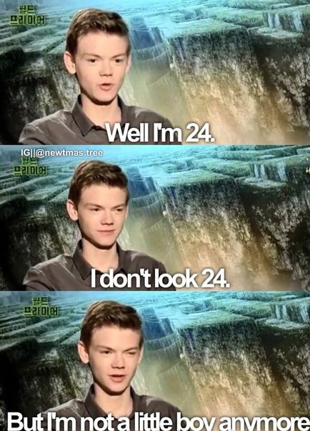 Thomas Brodie Sangster is 24!! What in the world<<<<<<My mom says he look's 14. I wish he was then I could have a chance with him :)