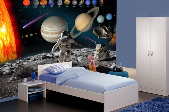 17 best images about room ideas for major on pinterest for Astronaut wall mural
