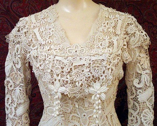 .irish crochet lace bodice