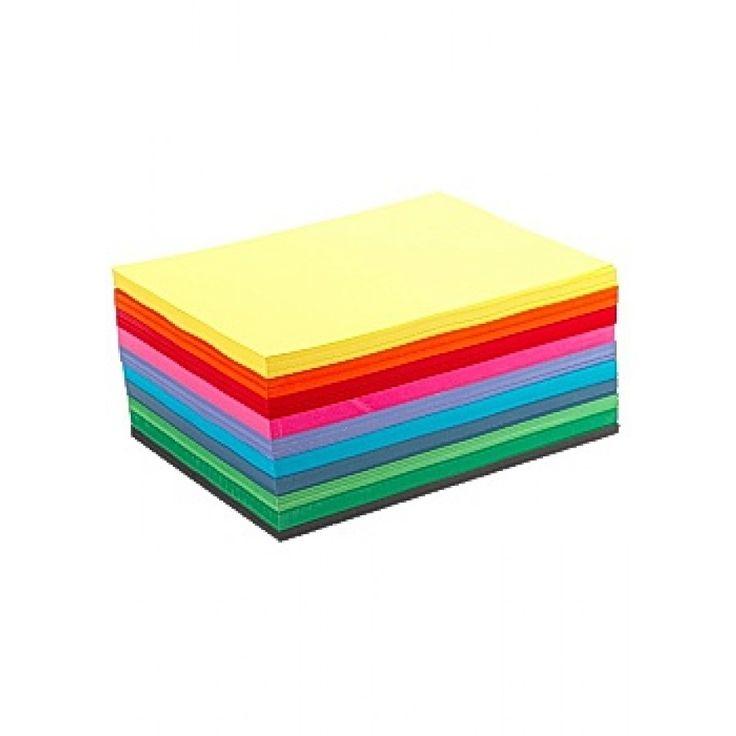 Tonpapper storsats basfärger A4 1000/fp