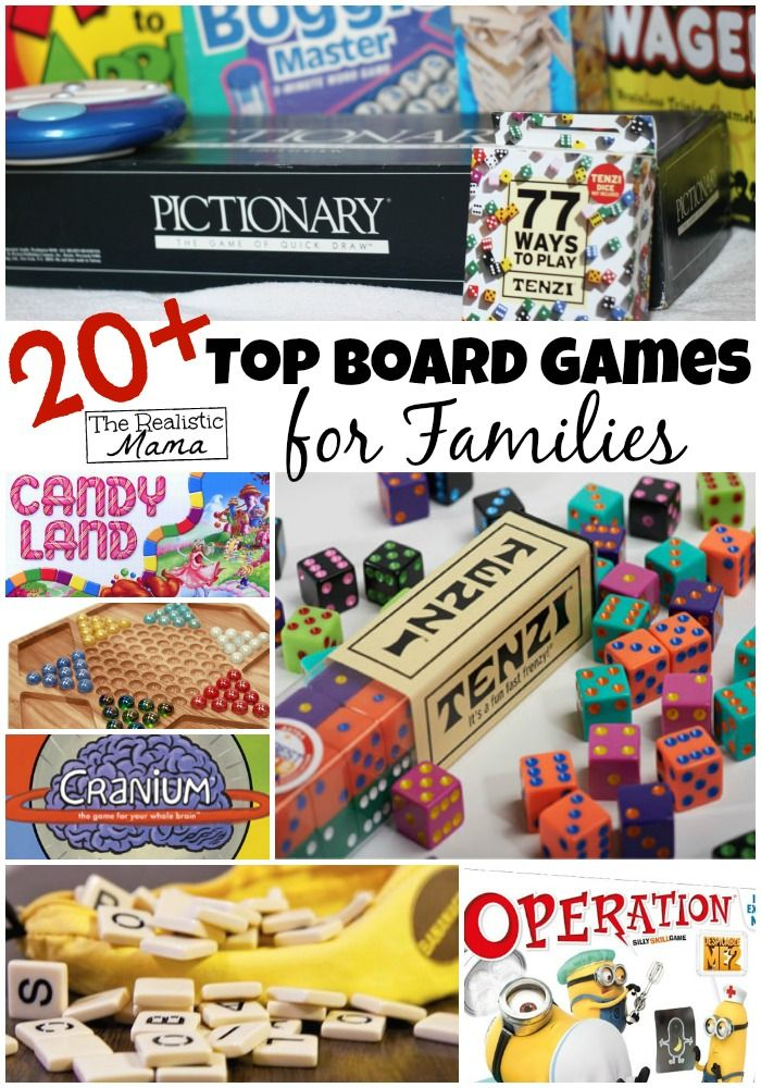 Here are our top board games that are family- and kid-friendly! We've sorted them by age appropriateness, in case you're trying to find a gift.