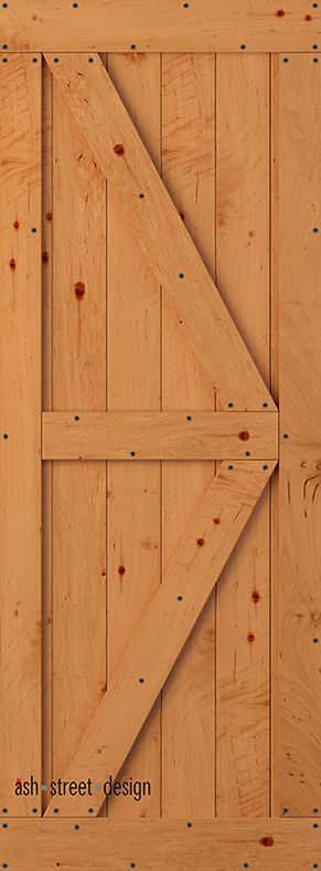 Town & Country Barn Door Kit. Alder(Knotty); Sold Core. Style KC; Colonial. Tongue & Groove Construction