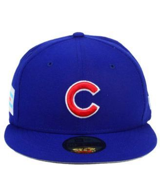 New Era Chicago Cubs Flag Stated Redux 59FIFTY Cap - Blue 7 1/4