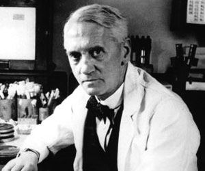 "Noble Prize winner Alexander Fleming, born Aug. 6, 1881 was a great Scottish biologist and pharmacologist who made way for antibiotic medicines with his discovery of penicillin from the mould ""Penicillium notatum""."