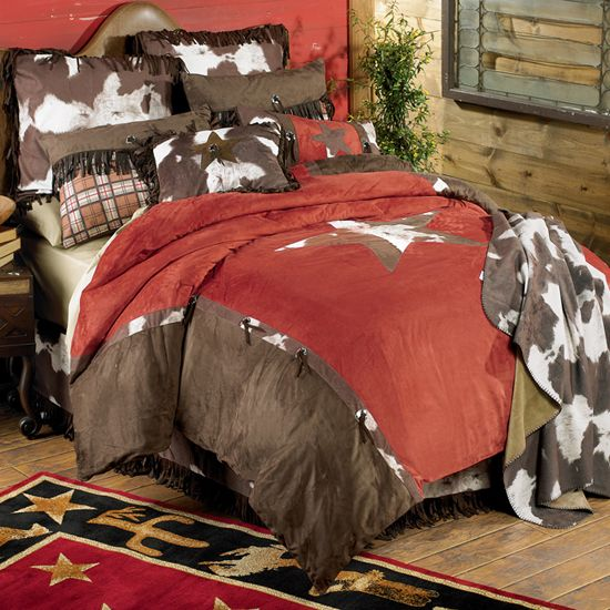 Cowhide Star Western Bedding