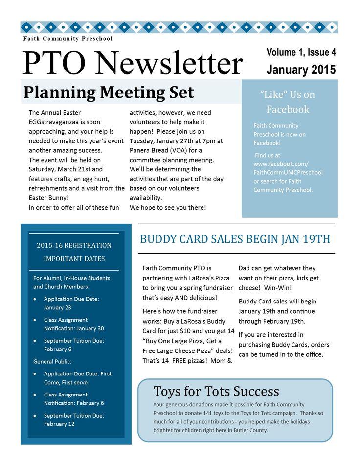 18 best PTO PTA Newsletter images on Pinterest | Newsletter ideas ...