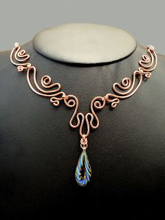 beautiful copper wire necklace
