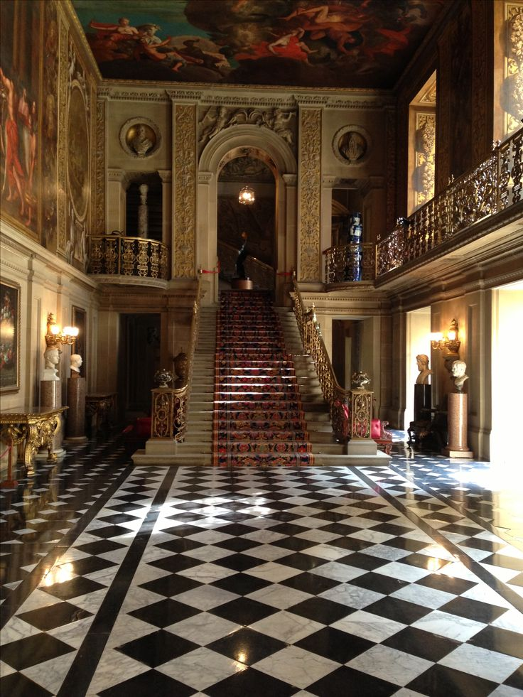 Chatsworth House entrance hall