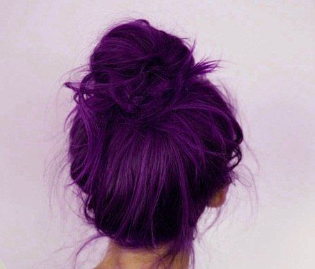 Gorgeous purple hair. if only i could pull this off!!  -- I think it's funny when people say that. Dye your hair purple! Anyone can do it!