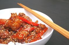 Peking Chicken just like Leeann Chin. A homemade sauce makes this recipe especially delicious!