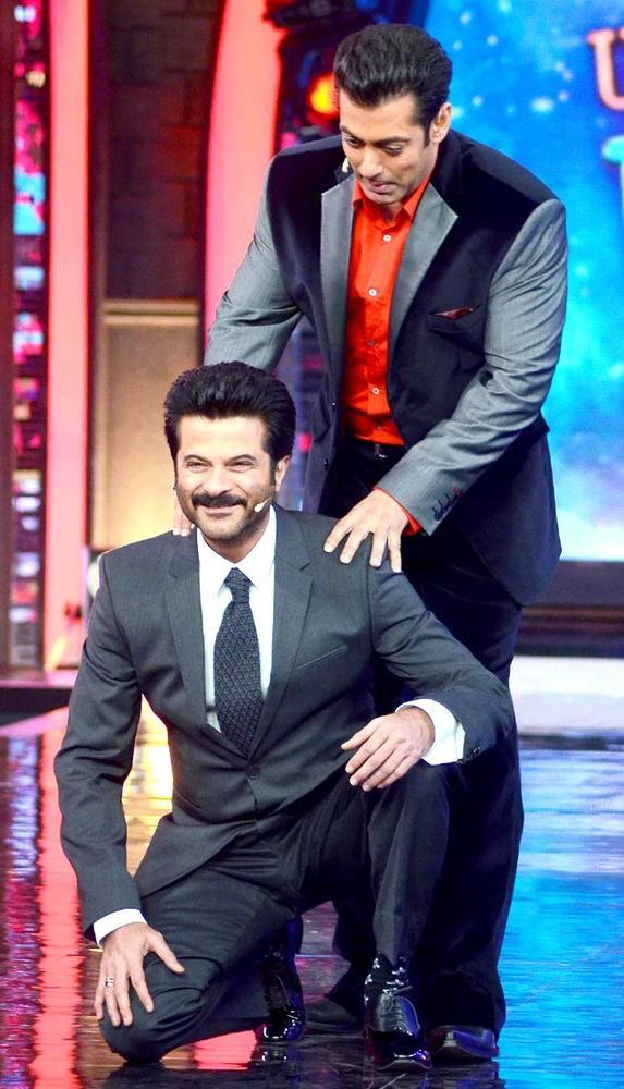 Salman Khan and Anil Kapoor on Bigg Boss 7 #Bollywood #Fashion #Style