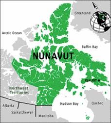 Nunavut, Canada. Nunavut is the largest, northernmost and newest territory of Canada. It was separated officially from the Northwest Territories on April 1, 1999.