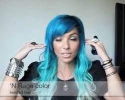 Resultado de imagen para cabello de color azul y blanco en las puntas