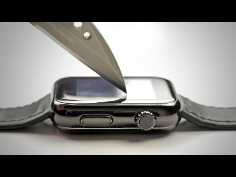 Apple Watch Sport's Ion-X Display Undergoes Scratch Test