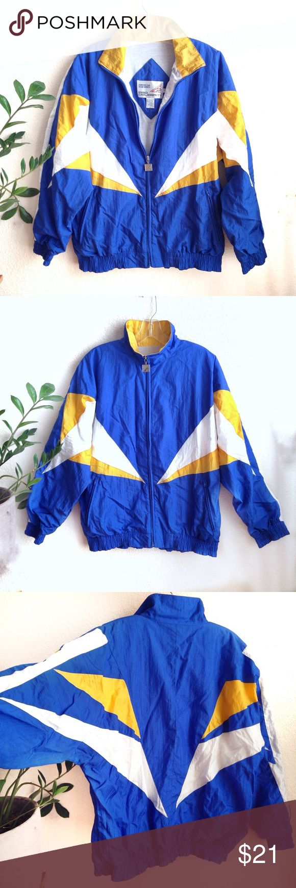 VTG⭐️90s Super Rad Color Block Windbreaker! Amazing retro 90's goodness right here! In amazing vintage condition. Blue, white & yellow color block day glow jacket. Perfect for the Los Angeles (San Diego) Chargers fan ⚡️ Size S, fits more like a M/L (probably a men's size 😜). Feel free to make me an offer! ⚡️💙⚡️💙⚡️ NFL 80s Retro Nike Adidas Puma Adidas Vintage Jackets & Coats