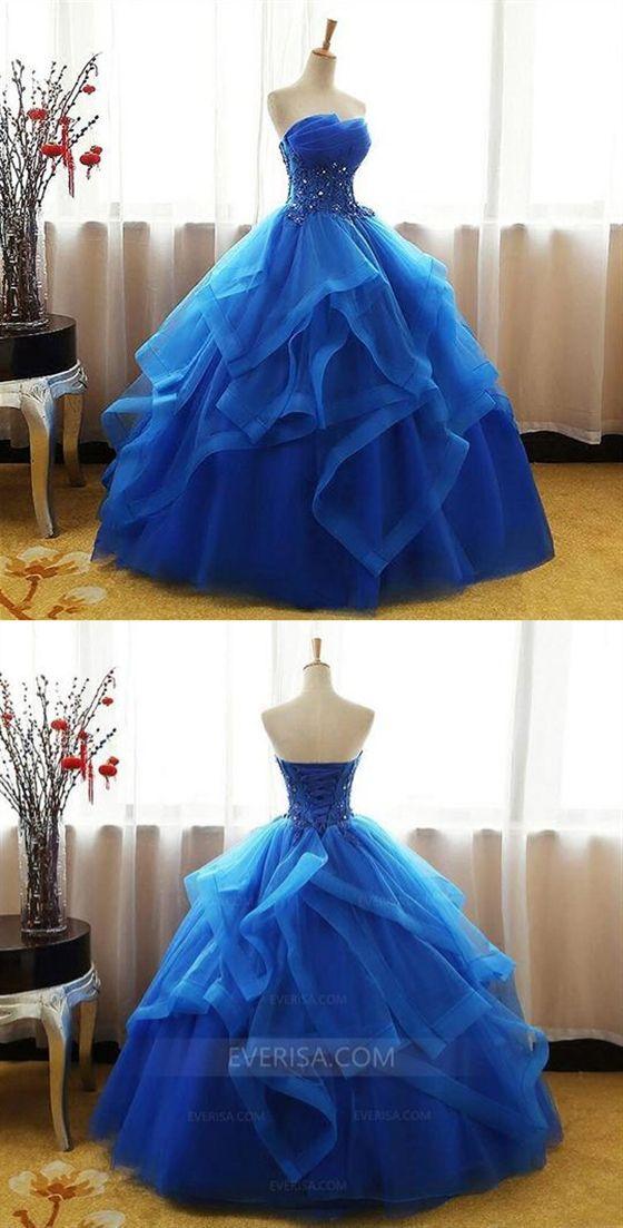319f1e36bf6 Royal Blue Sleeveless Prom Dresses