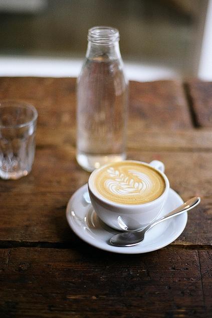 a beautiful latte