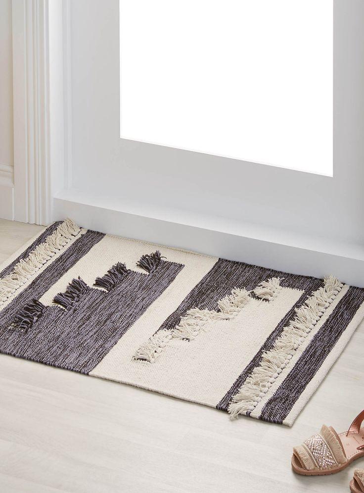 Le tapis patchwork frangé 60x90 cm   Simons Maison   Tapis neutres de base en ligne   Simons