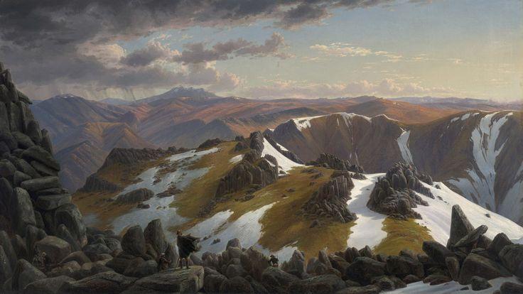 Terriblement fidèle à la nature de Eugene Von Guerard (1811-1901, Austria)