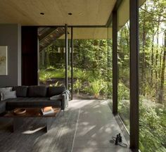 Ferienhaus Wald-Glasfassade