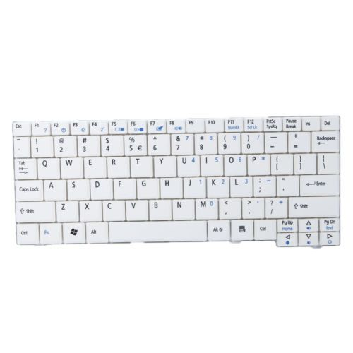 Keyboard for Acer Aspire One AOD250 AEZG5R00010 9J.N9483.21D White US Layout
