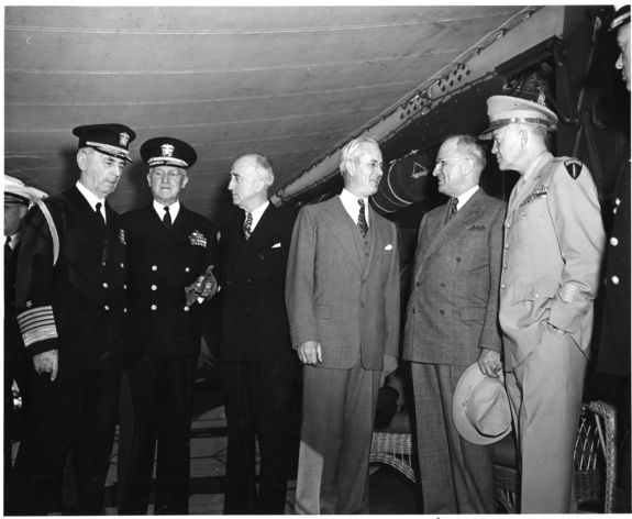 32 best uss augusta wwii images on pinterest world war two wwii president harry s truman is greeted aboard the uss augusta fandeluxe Choice Image