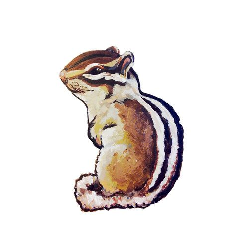 *Chipmunk 1* Removable Wall Decal. These self-adhesive sweeties are an easy way to add character to any room or piece of furniture!
