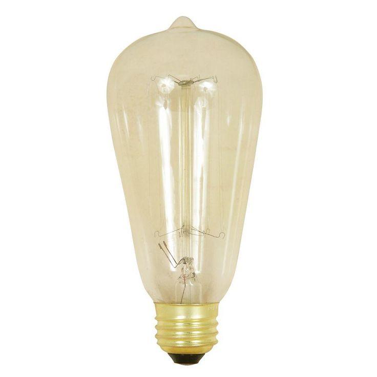 Feit Electric Original Vintage Style 60-Watt Incandescent ST19 Light Bulb Vintage Style Light Bulb-BP60ST19/RP - The Home Depot