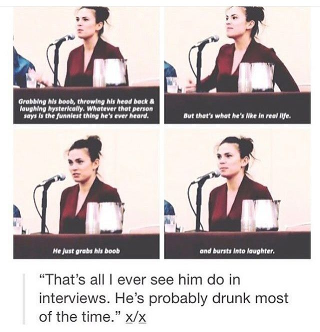 I'm crying bc you just know who she's talking about --- true story