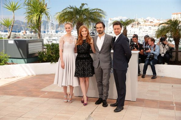 Jess Weixler, Jessica Chastain, Ned Benson, & James McAvoy 'The Disappearance of Eleanor Rigby' Day photocall