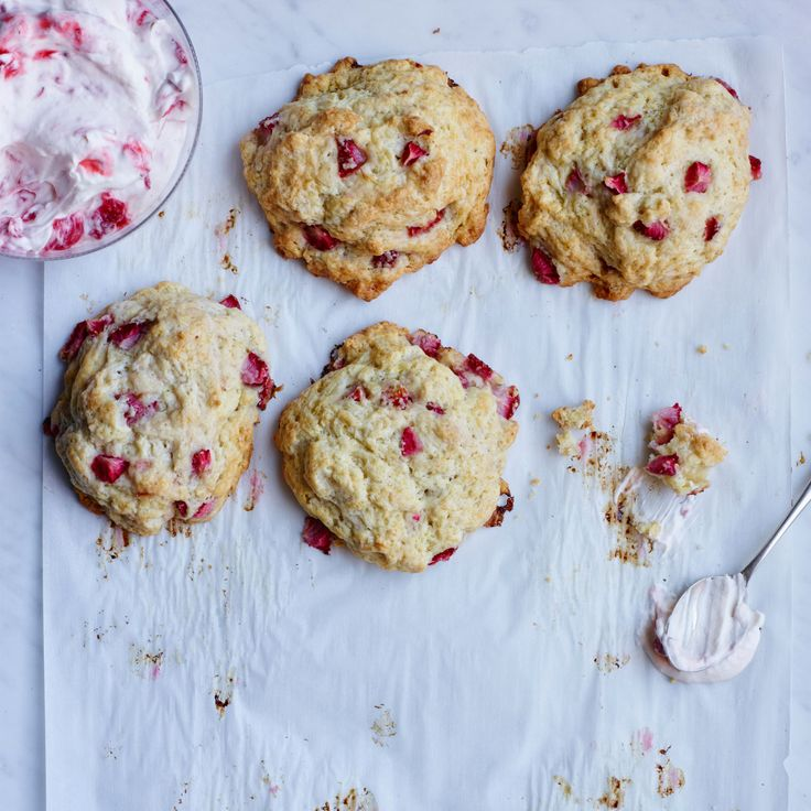Strawberry Crème Fraîche Biscuits | Food & Wine