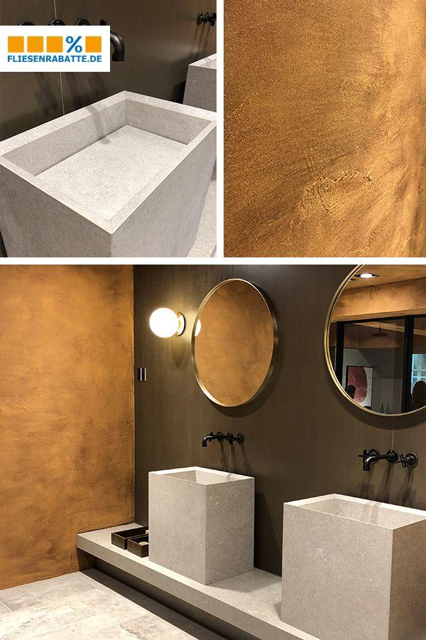 Goldene Zeiten Fur Dein Badezimmer In 2020 Badezimmer Dekorfliesen Betonfliesen