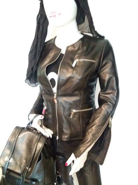 giacca+donna+vera+pelle+di+Smallville+su+DaWanda.com