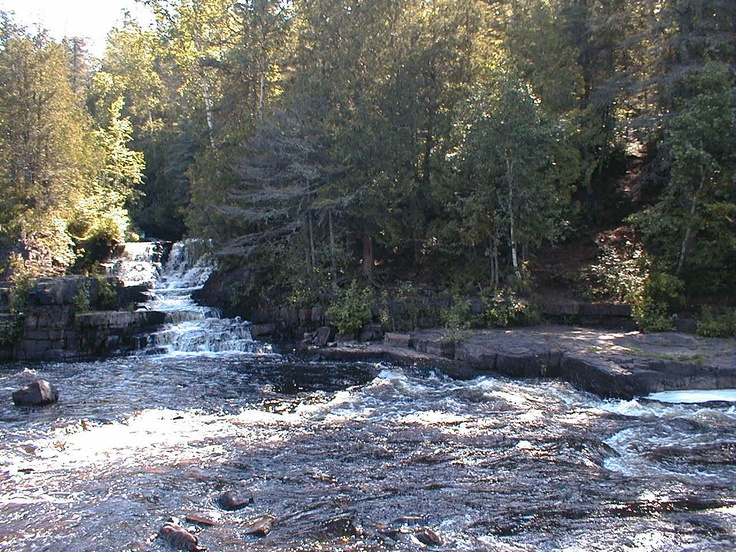 Trowbridge Falls in Thunder Bay, Ontario, Canada  - Many people have died right here and throughout the area over the years due to accidents while adventure-seeking, or due to suicide. People report hearing unexplained noises and seeing movement  throughout the surrounding forest, being touched and pushed by unseen entities, light anomalies are seen, mysterious mists form & disappear