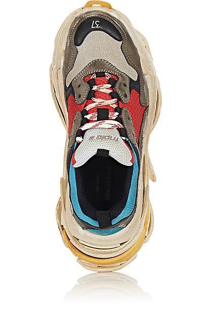 09449dba2107 Balenciaga Women s Triple S Sneakers - Sneakers -  490673-4365-BLEUGRIS 4 ShoeTopOrFront (402×629)