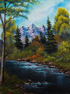 Bob Ross Painting - Fisherman's Retreat by C Steele