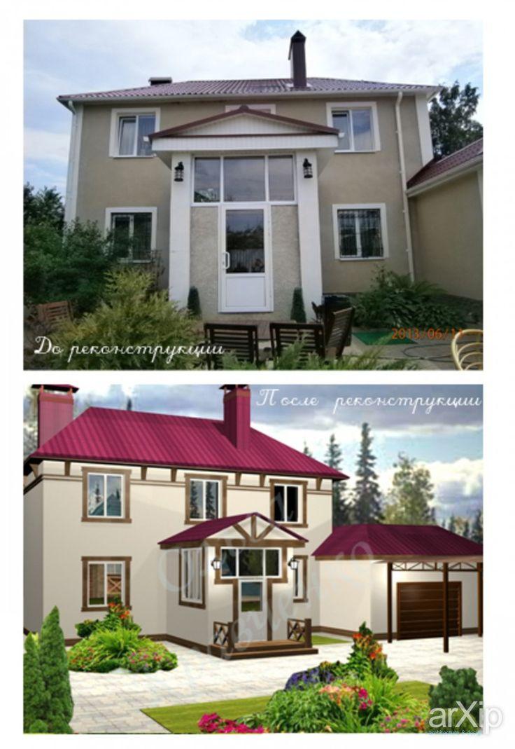 реконструкция фасада: архитектура, 2 эт   6м, жилье, 200 - 300 м2, фасад - штукатурка, коттедж, особняк, скандинавский #architecture #2fl_6m #housing #200_300m2 #facade_plaster #cottage #mansion #scandinavian arXip.com