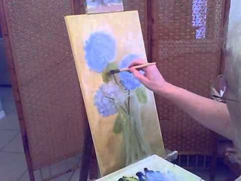 How to paint Hydrangeas-part 2.avi