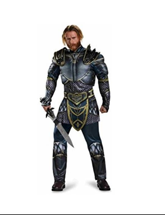 warcraft lothar classic muscle adult costume x large size xl multi colored - Good Halloween Costumes For Big Guys