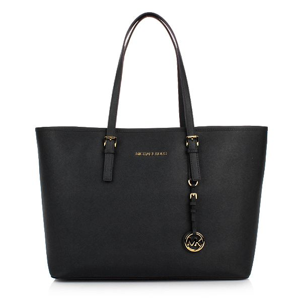 MICHAEL Michael Kors Jet Set Travel MD Multifunction Tote Black Shopper bei Fashionette