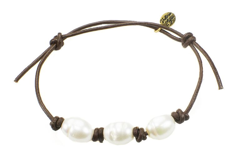 """Victoria Lynn Jewelry """"Beach Pearl"""" Leather Bracelet from High Stylin' Boutique"""