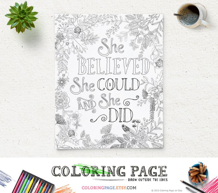 10 Ideas About Quote Coloring Pages On Pinterest