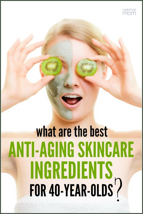 Ever wonder what ingredients SHOULD be in anti-aging skincare? Here are the best anti-aging skincare ingredients for 40-year-olds to make sure you get your money's worth.