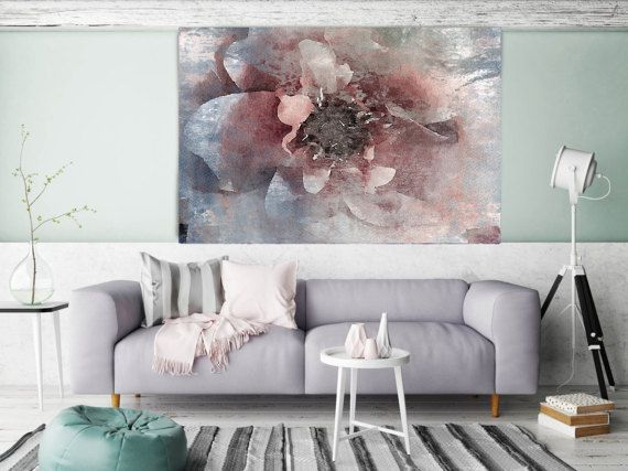 Orl 8047 1 blushing pink floral painting pink blue abstract art abstract colorful contemporary canvas art print up to 72 by irena orlov