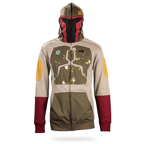 I can not stress how much fun this website is for gifts....if you are a nerd or know of one. ThinkGeek.com has everything a nerd would ever want. Caffienated Items, Witty T-shirts, Cube Warfare items, and yes of course Star War items.Check out this Boba Fett Hoodie........just awesome...*tear*