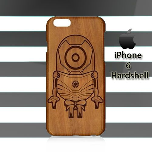 Minion Iron Man Wood iPhone 6