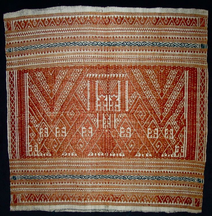Tampan, ceremonial covers, Lampung. Sumatra. Cotton, silk, supplementary weft weaving, early 20th century