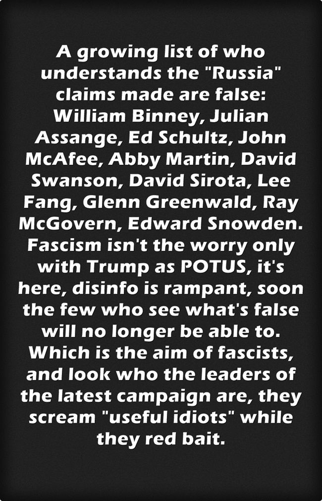 You can add Jeremy Scahill to the list above & plenty more.  Clapper is the guy who lied about WMD's for Rumsfeld, I challenge any of you to go to understand the real debate on this issue.  The claims are not proven, not by a longshot.