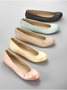 Ruched Ballet Flats