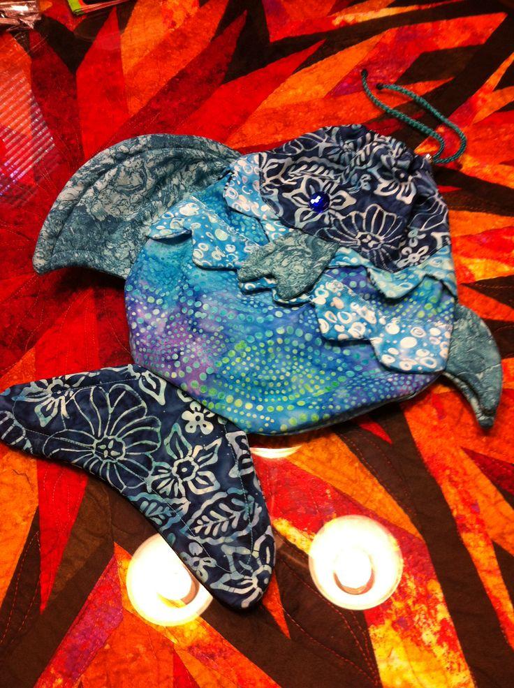 Jenn Martin - Blue fish bag